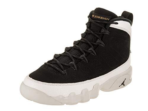 Jordan Herren Nike Air 9 Retro BG-Basketball-Schuh 4.5 US 4,5 M US Big Kid Schwarz/Schwarz/Weiß-Gipfel