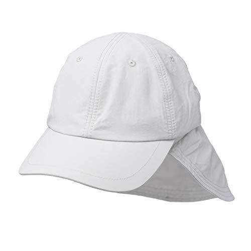WEROR I Herren & Damen I Basecap mit Nackenschutz I WEROR-220.47309 (Weiß, L (55 cm - 57 cm))