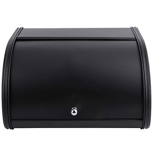 Caja de almacenamiento del pan de la caja del pan, capacidad grande para el cocinar casero del uso de la cocina del hogar(black, Blue)