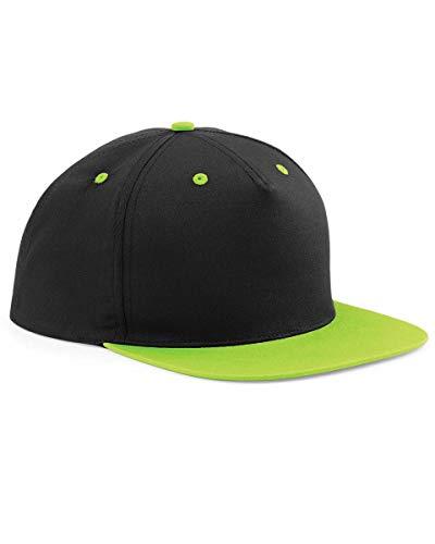 StitchPrint - Gorras de béisbol unisex personalizables, bordadas, estampadas, hiphop Verde NEGRO & VERDE LIMA Taille unique