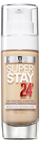 Maybelline New York Super Stay 24H Make-Up Cameo 20, Schminke in einem Hautfarben-Ton, 1er Pack (1 x...
