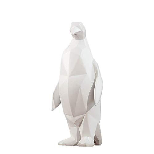 ZLBYB Decoración Escultura-Escultura de Resina nórdica Geometría Pingüino Manualidades Decoración Creativa Sala de Estar Estudio Oficina Art Deco