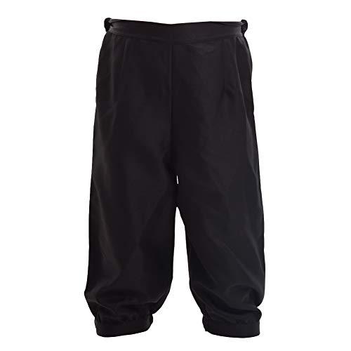 BLESSUME Retro Colonial Pants Renaissance Mens Knicker Pants Breeches (Black, L)