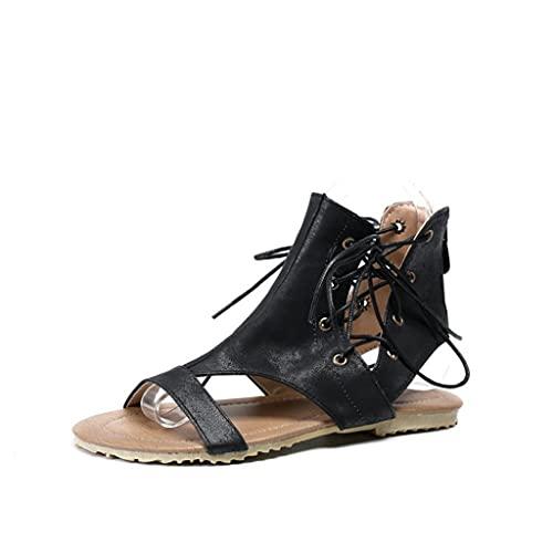 Sandalias Planas Verano Mujer Estilo Bohemia Zapatos para Mujer Casuales de Playa Chanclas Romanas de Mujer