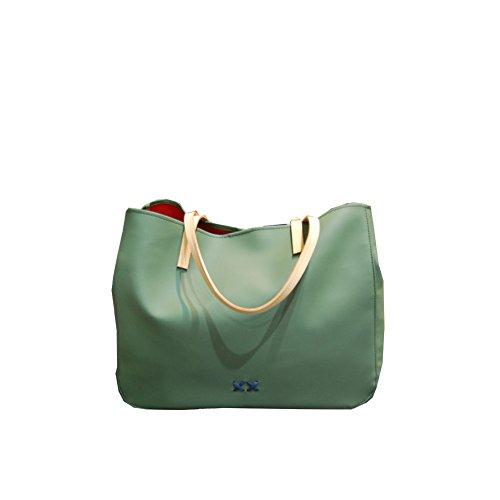 Borsa Donna Shopping Francine Gommosa Filo Blu | Cross Concept File Rouge | FR01SPALMOG/2316-Olive Green