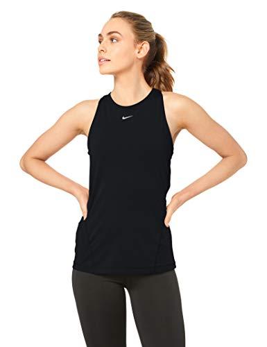 Nike Damen W Np Tank All Over Mesh Tanktop, Black/White, XL