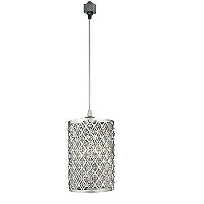 KIVEN Crystal and Chrome Brilliant Mini Pendant Light - H-Type Track Lighting Pendant lamp,Bulb Not Include,One Light ... (TB0296)