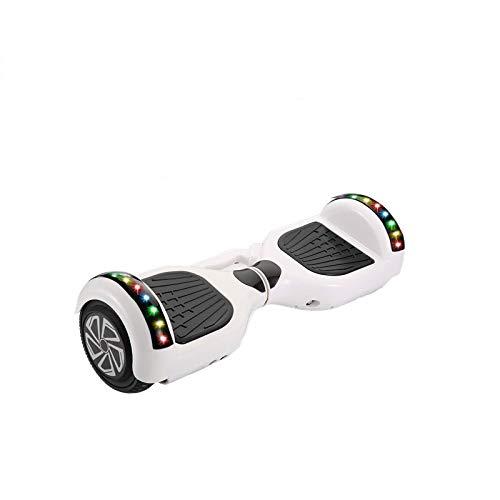 xiaoxioaguo Blanco 7 pulgadas inteligente somatosensorial de dos ruedas scooter eléctrico de equilibrio para viajes adultos que torce la vespa eléctrica off-road scooter de dos ruedas del estudiante