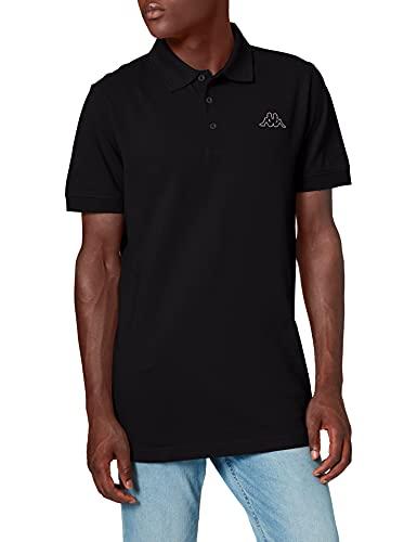 Kappa Peleot, Camiseta Deportiva para Hombre, Negro, 2XL