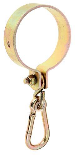 GAH Alberts 207502 Collier porte mousqueton bichromaté pour Bois rond ø 100 mm