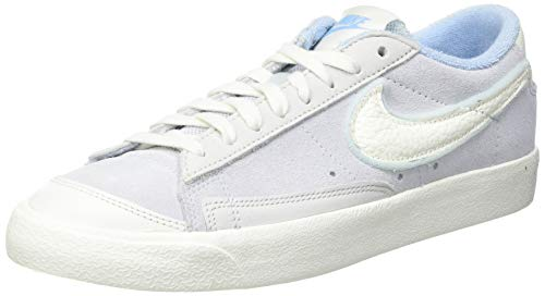 Nike Blazer Low VNTG '77, Zapatillas de bsquetbol Hombre, Football Grey Sail Psychic Blue Platinum Tint White, 42.5 EU