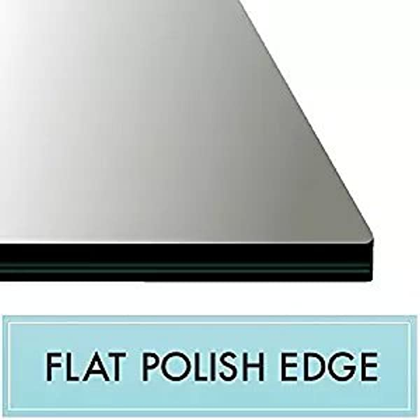 20 X 54 Rectangle Tempered Glass Table Top 3 8 Thick Flat Polish Edge And Touch Corners