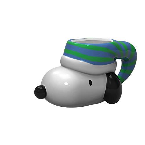 Zak Designs Peanuts Snoopy Unique 3D Character Sculpted Ceramic Coffee Mug, Collectible Keepsake and Wonderful Coffee Mug (10 oz, Snoopy, BPA-Free)
