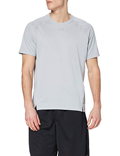 Under Armour UA Qualifier Camiseta, Hombre, Gris (Mod Gray/Mod Gray/Reflective 011), M