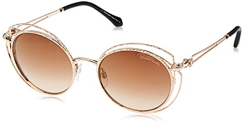 Roberto Cavalli RC1030 28G 55 Monturas de Gafas, Dorado (Oro Rosã LucidoMarrone Specchiato), 55.0 Unisex Adulto
