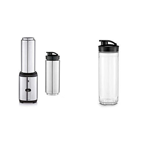 WMF Kult X Mix & Go Keep Cool, Mini licuadora, 300 vatios, 0.6 litros + Vaso Recambio para Batidora Kult X Mix & Go, capacidad de 0.6 litros, Tritan libre de BPA