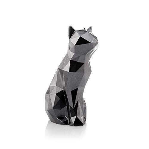 Kerze Deko in Form einer Katze Kerzen Deko Wohnzimmer Pet Kerze Katze Figur Handgemacht Langlebige Katzen-Kerze Katzenform Geschenk für Katzenliebhaber Geruchlos Hochwertige Zutaten (Schwarz)