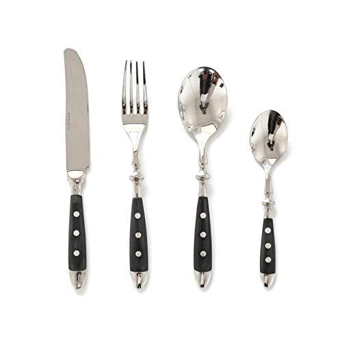 Cuberterías Combinadas juego de cubiertos cubiertos de acero inoxidable cuchillo de carne accesorios para el hogar regalo