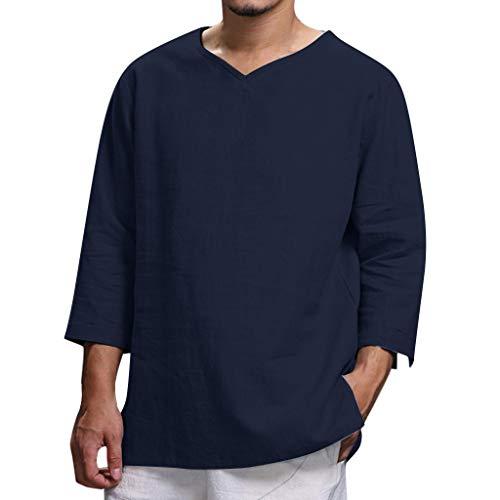 FRAUIT Camicia Uomo Coreana Taglie Forti Camicia Ragazzo Lino Spiaggia Plus Size Oversize Camicie Uomini Particolari Manica Lunga Magliette Maniche Lunghe Estive Vintage Maglietta Divertenti T Shirt