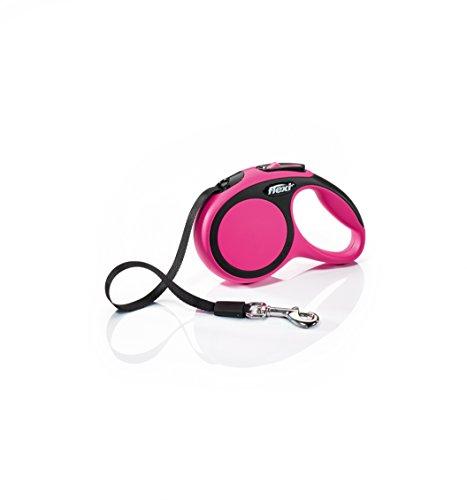 FLEXI CF00T3.250.P Hundeleine, einziehbar, 3 m, Größe XS, Pink