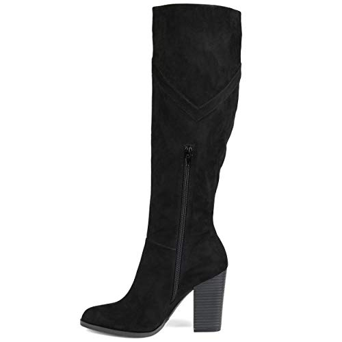 Journee Collection Womens Kyllie Boot Black, 9 Extra Wide Calf US