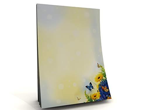 Sommer Blumen Wiese Schmetterling Nature Motivpapier Block Sommertraum, 50 Blatt DIN A5, 90g/qm
