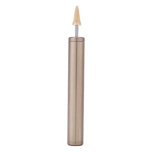 Lederen rand kleurstof stift, DIY leer bovenkant verfroller handwerk olie pen applicator riem finisher gereedschap (blauw)
