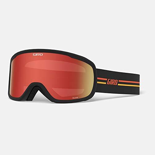 Giro Snow Roam Masque de Ski pour Homme Noir/Orange écarlate/Jaune Taille Unique