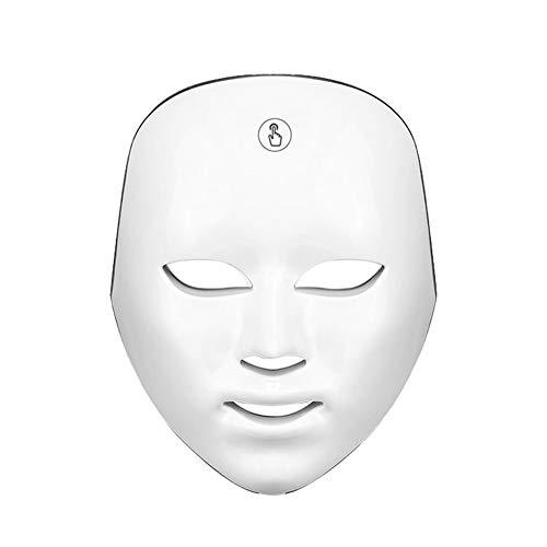 Upgrade LED-Gesichtspflegesystem, 8-Farben-LED-Licht-Gesichtsmaske - Keine Kabel erforderlich mit Touch-Taste für Hautpflegemittel Gesichtsreiniger Anti-Aging Anti-Falten, gesunde,