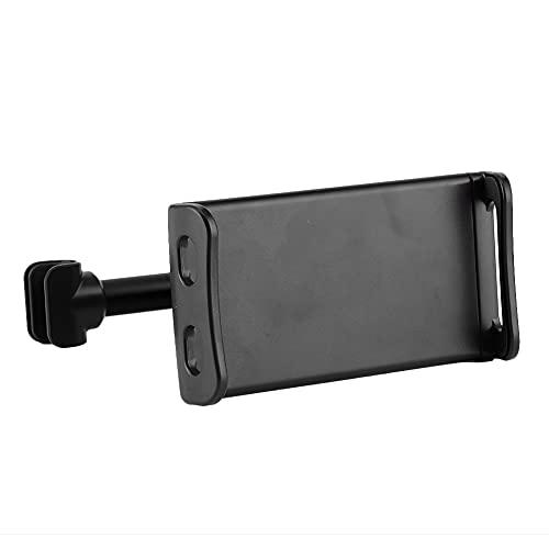 Suporte de telefone giratório, suporte de travesseiro traseiro estável e ajustável para homens para encosto de cabeça em telefone celular(black)