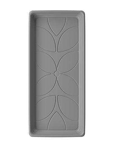 Emsa 518576 Untersetzer für Pflanztrog My City Garden 80 x 35 cm, zeitloser Untersetzer, 74 x 29 cm, frostfest, hohe UV-Beständigkeit, staubgrau