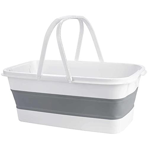 ALLOMN Cubo plegable, fregaderos plegables para acampar, cestas de picnic, cuenco plegable para lavar el coche, cocina, platos para el hogar al aire libre