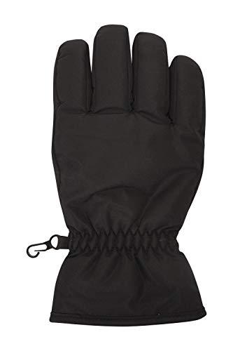 Mountain Warehouse Kids Ski Gloves - Snowproof Boys & Girls Ski Glove, Fleece Lined - Great To Keep Hands Warm Black L