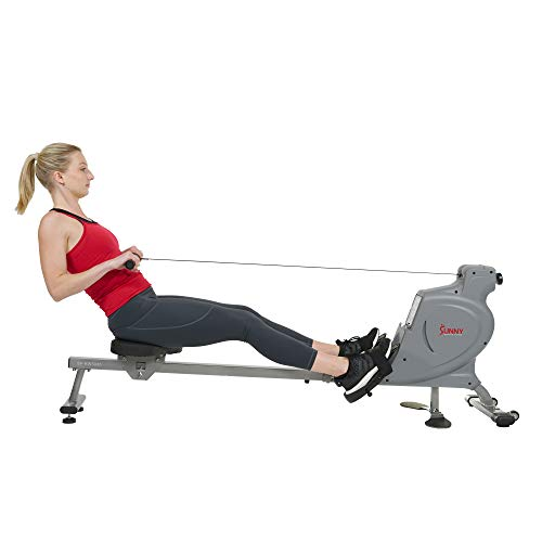 Sunny Health & Fitness Multi-Function Magnetic Rowing Machine with Floor Plates - SF-RW5935