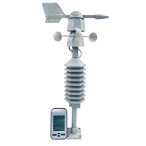 Amuzocity Drahtloses Windmesser 433MHz Wetterstation Mit Windsensor Für