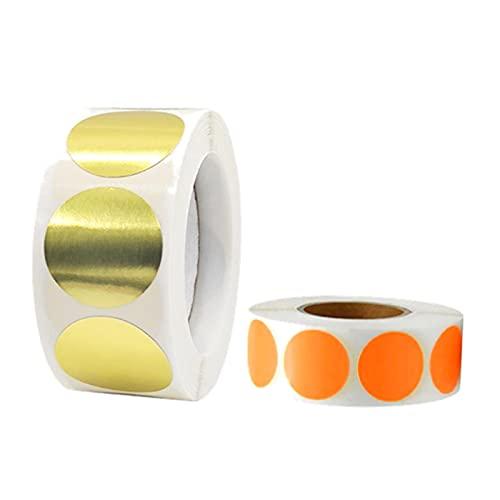 500 unidades de puntos adhesivos de colores, etiquetas redondas, 2 unidades de 2,5 cm de diámetro, redondos, pegatinas de pizarra autoadhesivas, etiquetas para regalos, botellas, especias