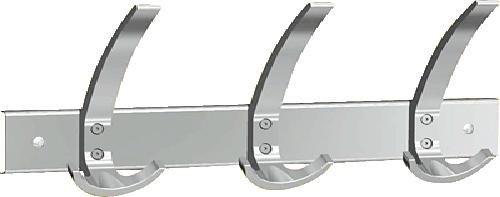 Kerkmann Wandgarderobe Public 3/6/6402 B40xT11xH17 cm alusilber Stahl pulverbeschichtet