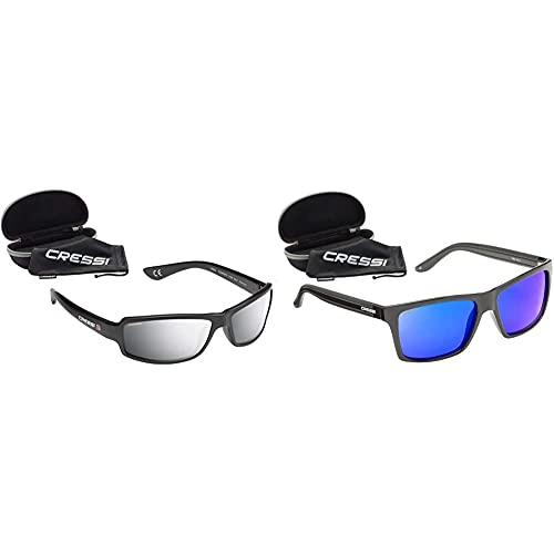 Cressi Ninja Floating Gafas Flotantes Polarizadas Para Deportes Con Una Protección 100% Uv Adultos Unisex + Rio Sunglasses Gafas De Sol Deportivo Polarizados, Unisex Adultos, Negro/Azul