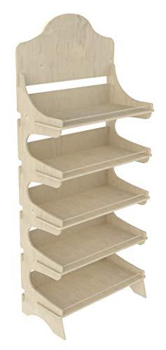 Cemab Trevi - Estantería de madera con 5 niveles y barras de sujeción para tiendas