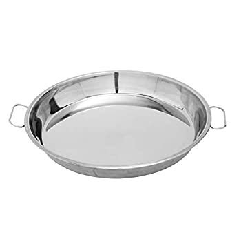 BBQ Future Stainless Steel Drip Pan Big Green Egg Grilling Accessory Also Fit Weber Kettle Charcoal Grills Pizza Cake Baking Tray  13-inch Diameter Round