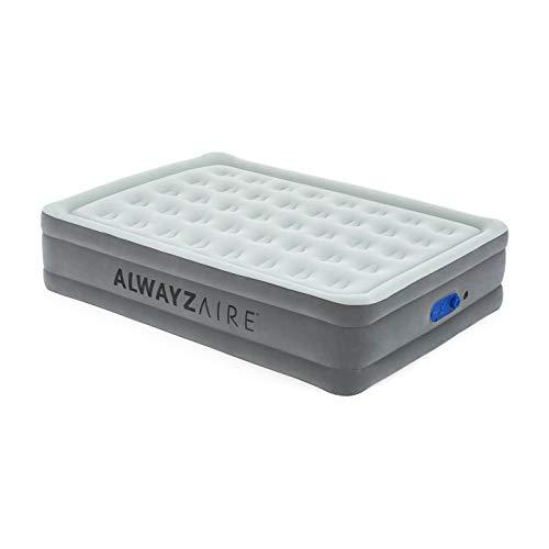 Bestway AlwayzAire Doppelbett Luftbett selbstaufblasend mit eingebauter elektrischer Pumpe, 203x152x46 cm