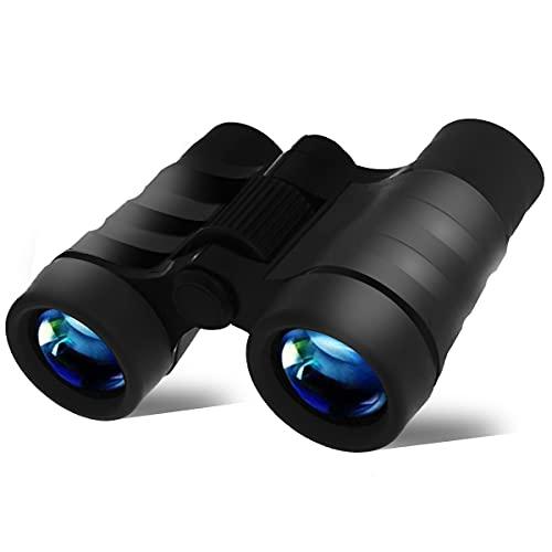 YiYunTE Binoculares para Niños Mini Prismáticos Compactos a Prueba de Golpes para Niños Alta Resolución Observación de Aves Excursiones Caza Aprendizaje Senderismo Juguetes Regalos para Niños (Negro)
