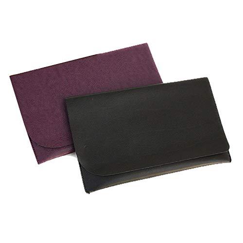 マルチケース ふくさ 袱紗 ご祝儀袋 冠婚葬祭 お香典 日本製 AC005 (ブラック)