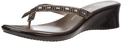 Athena Alexander Women's Roxi3 Sandal,Pewter,10 M US