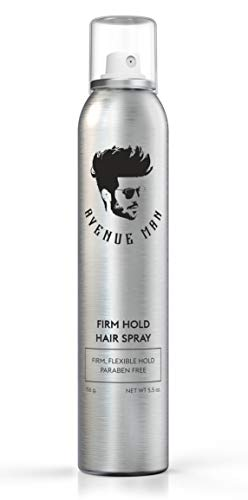 Firm Hold Hair Spray For Men (5.5 oz) by Avenue Man Hair Products - Strong Hold Hairspray with Certified Organic Extracts - Paraben-Free Hair Spray - Made in the USA