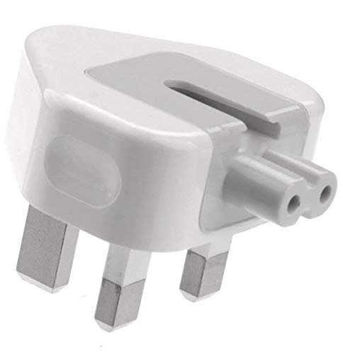 ELKY Power Adaptor Charger Plug, 3 Pin UK Standard Duck Head Wall Adapter Charge Plug for MacBook Pro Air Mac iBook iPhone iPod iPad etc(White)