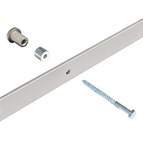 DIYHD Nickel Zinc Barn Door Track Spacers with Screws 5pcs,Fit Brushed Nickel Barn Door Track