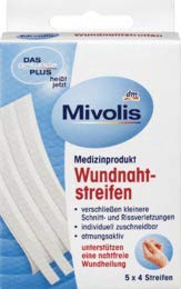 Mivolis Wundnahtstreifen, 20 Pflaster