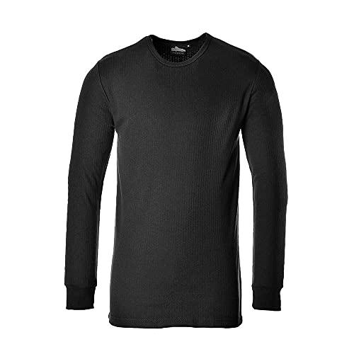 Portwest B123 - Camiseta térmica L/SLV, color Negro, talla Medium