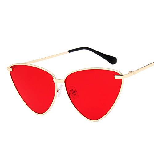 YIERJIU Gafas de Sol Vintage Ocean Cat Eye Sunglasses Mujeres diseñador de la Marca Candy Color triángulo Gafas de Sol Gafas al Aire Libre oculos Convertido Sol,K